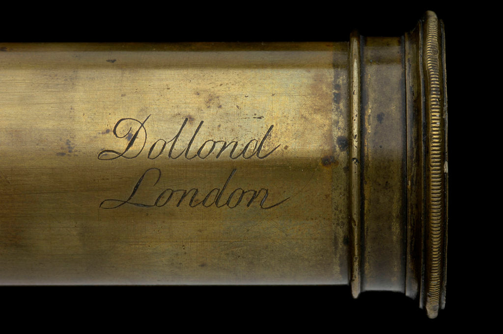 Detail of Polygonal telescope- draw tube inscription by Dollond