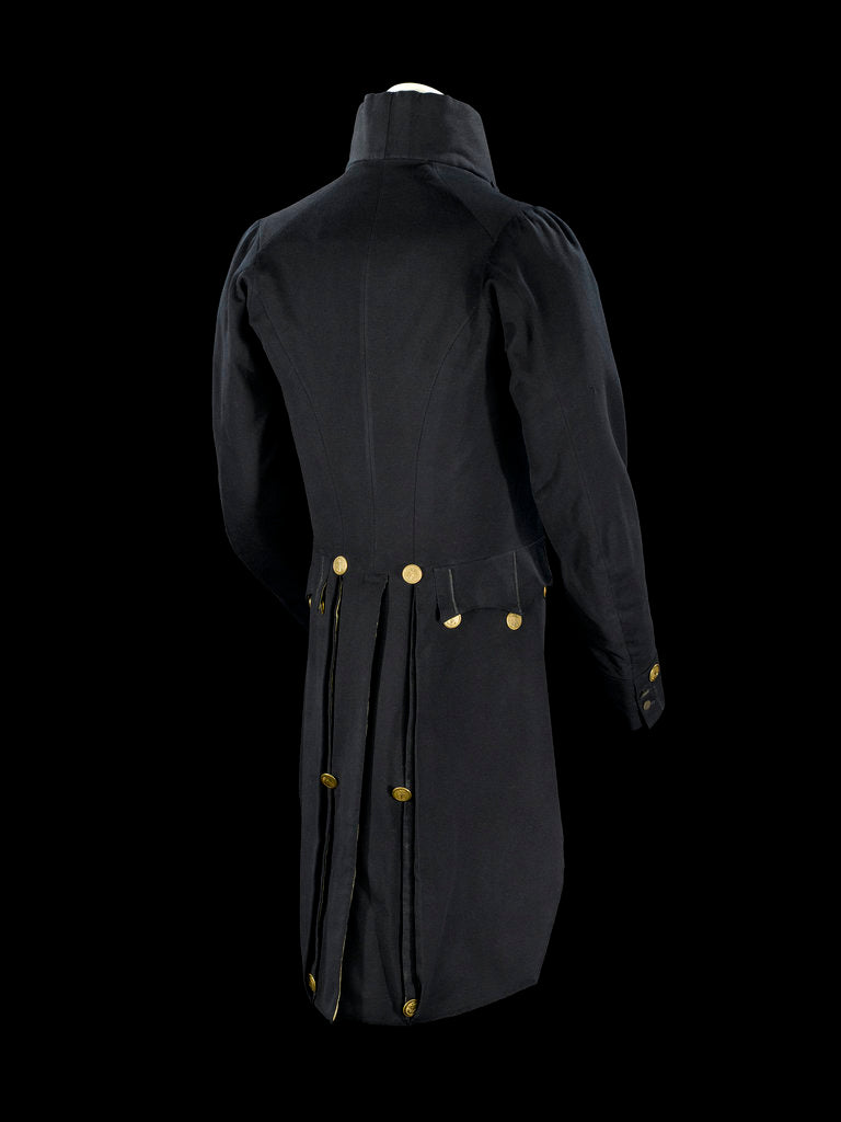 Detail of Surgeon Full dress coat, back  - Royal Naval uniform: pattern 1825-1832 by unknown