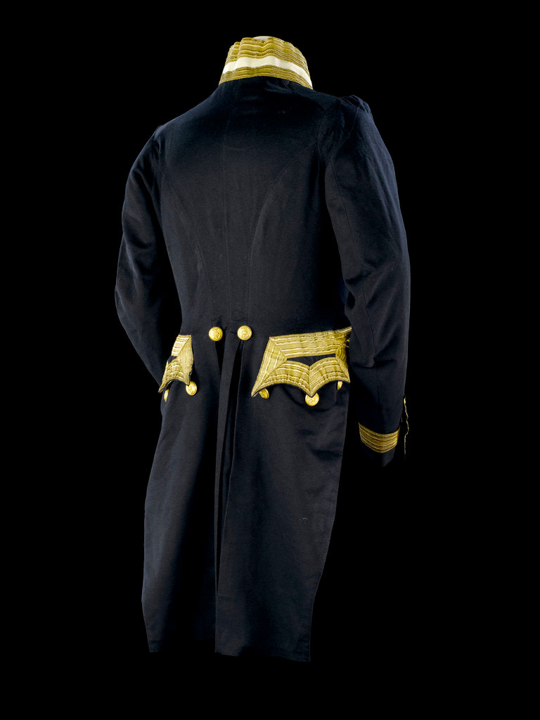 Detail of Full dress coat - back, Royal Naval uniform: pattern 1843 by Clancy