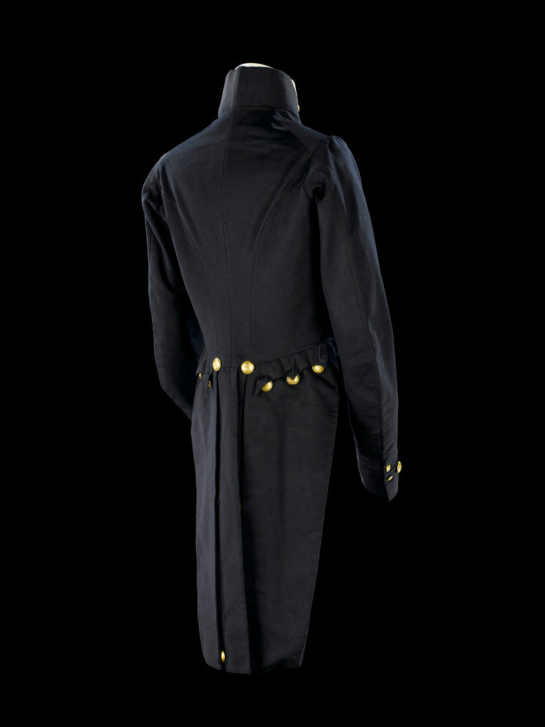 Detail of Tailcoat - back, Royal Naval uniform: pattern 1827-1843 by Hammond Turner & Sons