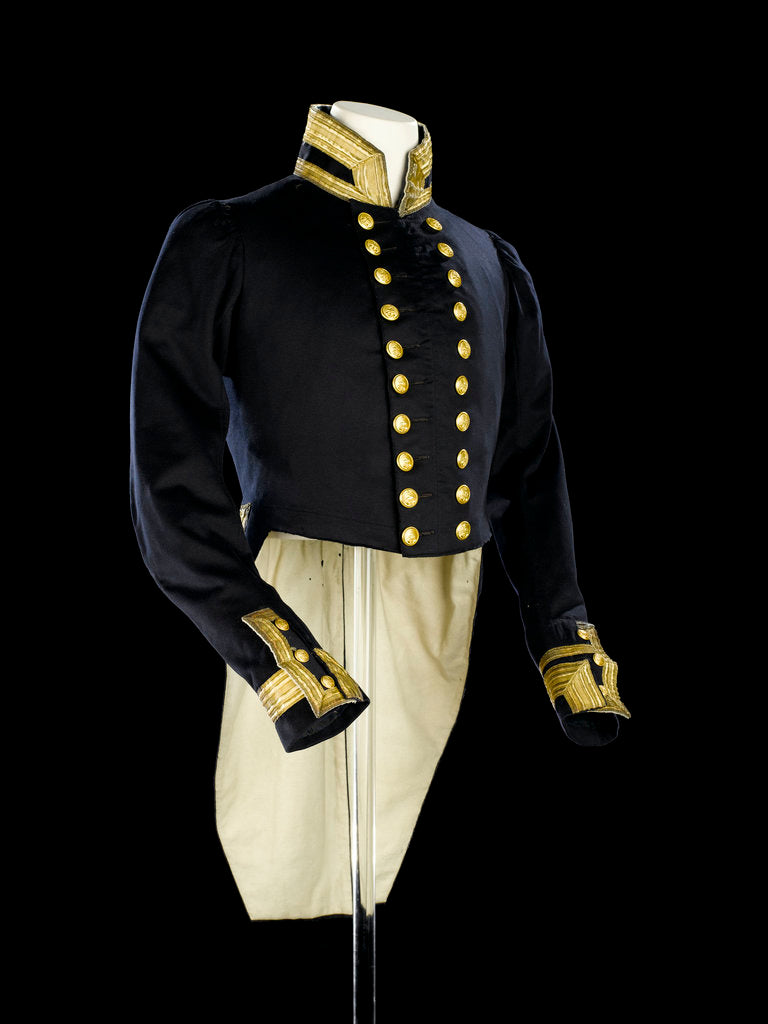 Detail of Full dress coat, Indian Naval uniform: pattern 1828 by Maynard & Harris
