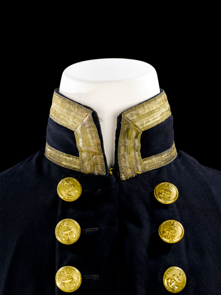 Detail of Full dress coat - collar, Indian Naval uniform: pattern 1828 by Jennens