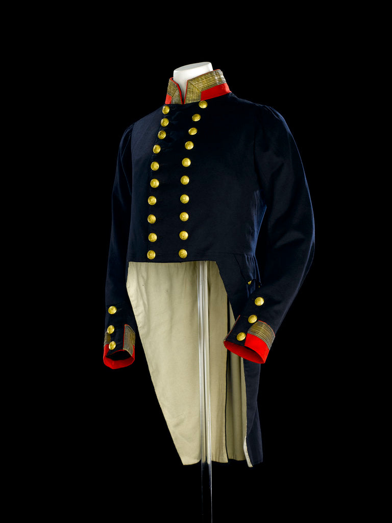 Detail of Full dress coat, Royal Naval uniform: pattern 1830-1843 by B. Boggett