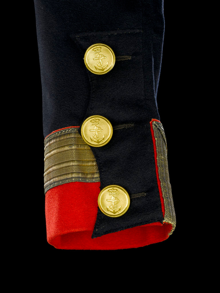Detail of Full dress coat - cuff detail, Royal Naval uniform: pattern 1830-1843 by B. Boggett