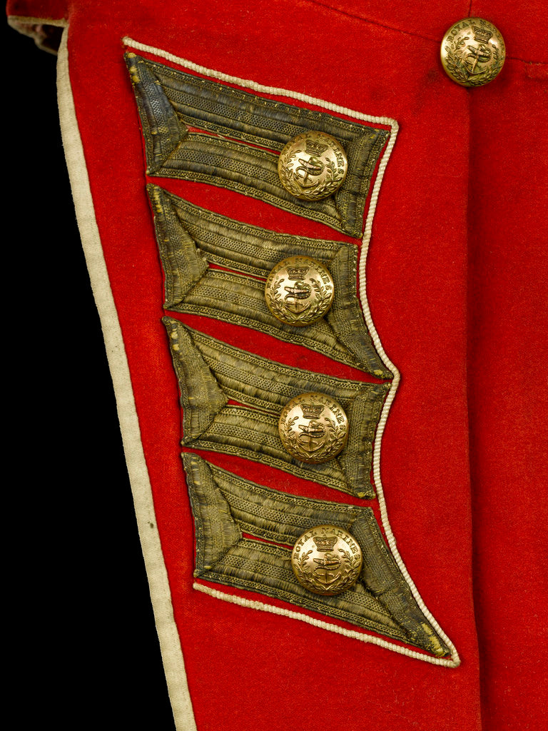 Detail of Coatee - tail detail, Royal Marines uniform: pattern 1830 by unknown