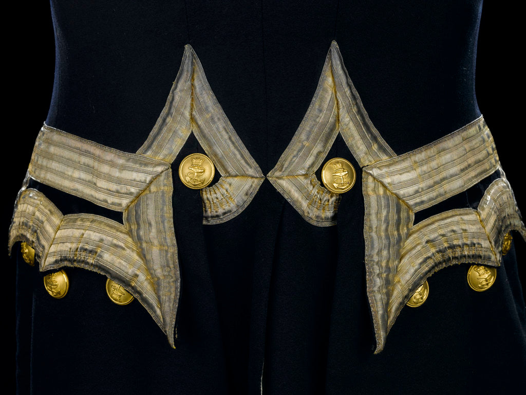 Detail of Full dress coat - back detail, Royal Naval uniform: pattern 1843 by Boggett & Reynolds
