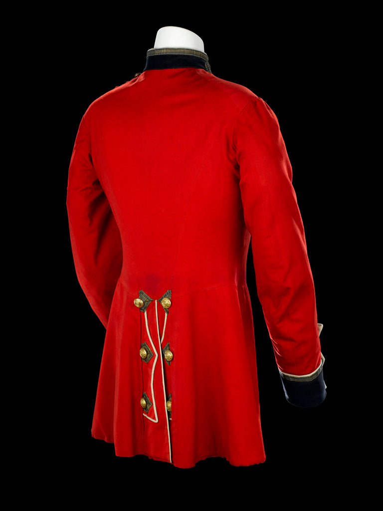 Detail of Tunic - back, Royal Marines Light Infantry uniform: pattern 1856-1863 by J. & C. Linney