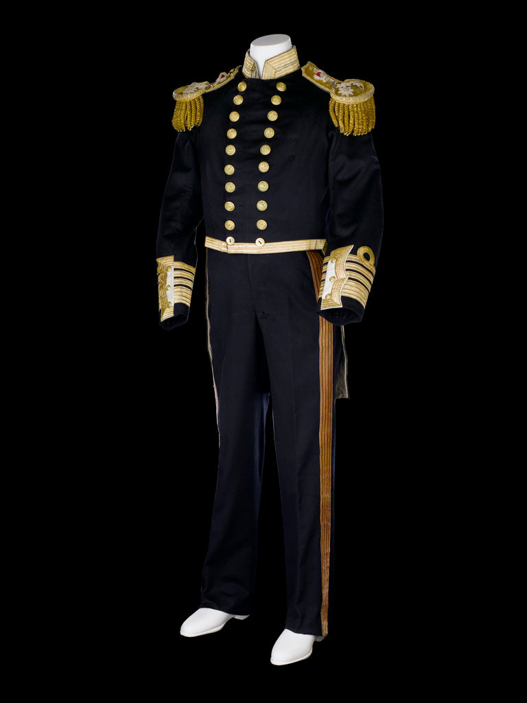 Detail of Full dress uniform, Royal Naval uniform: pattern 1856 by Jennens