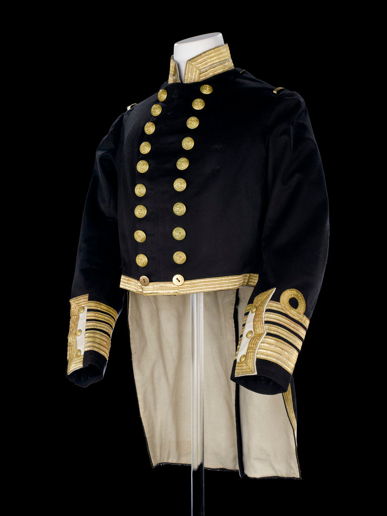 Detail of Full dress coat, Royal Naval uniform: pattern 1856 by Jennens