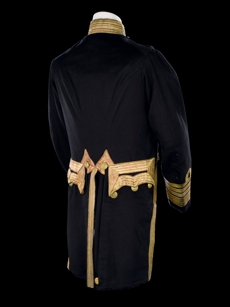 Detail of Full dress coat - back, Royal Naval uniform: pattern 1856 by Jennens
