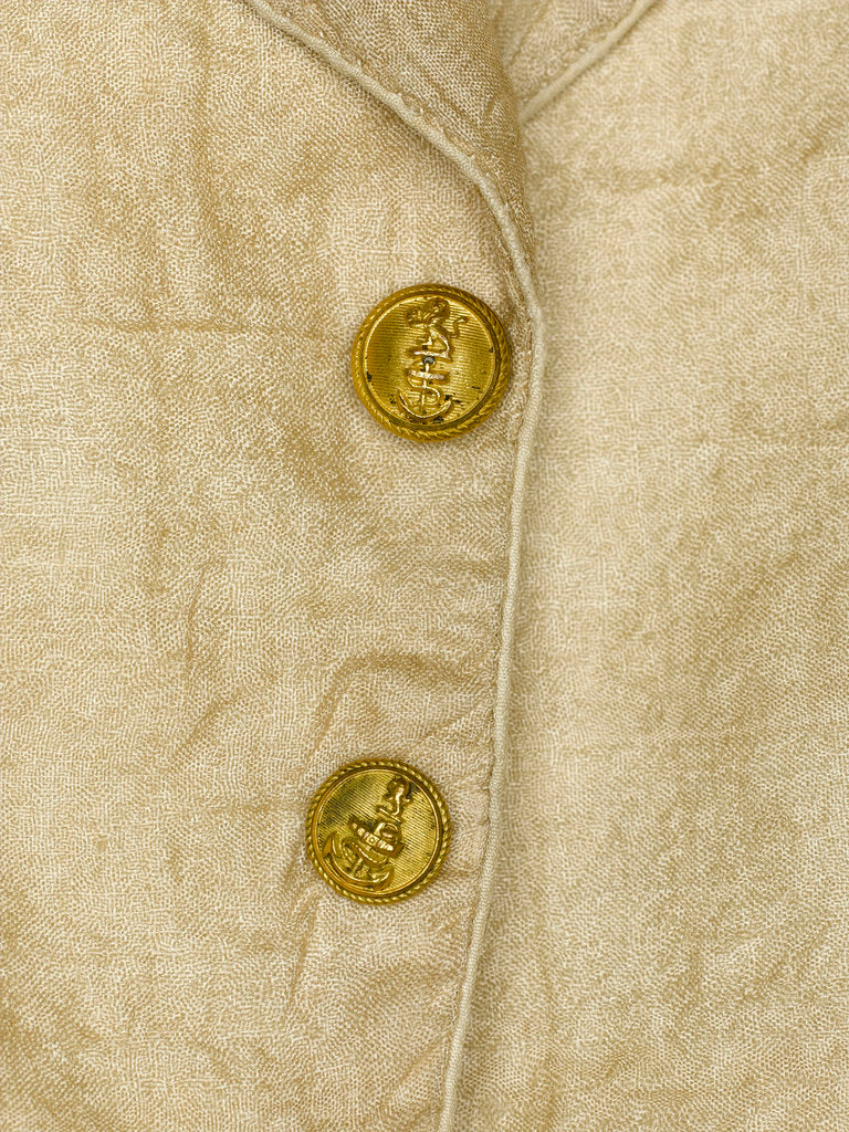 Detail of Waistcoat - button detail, Honourable East India Company uniform: pattern 1830 by unknown