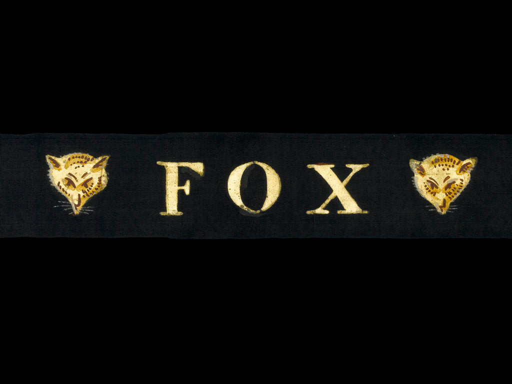 Detail of Rating's cap ribbon by unknown
