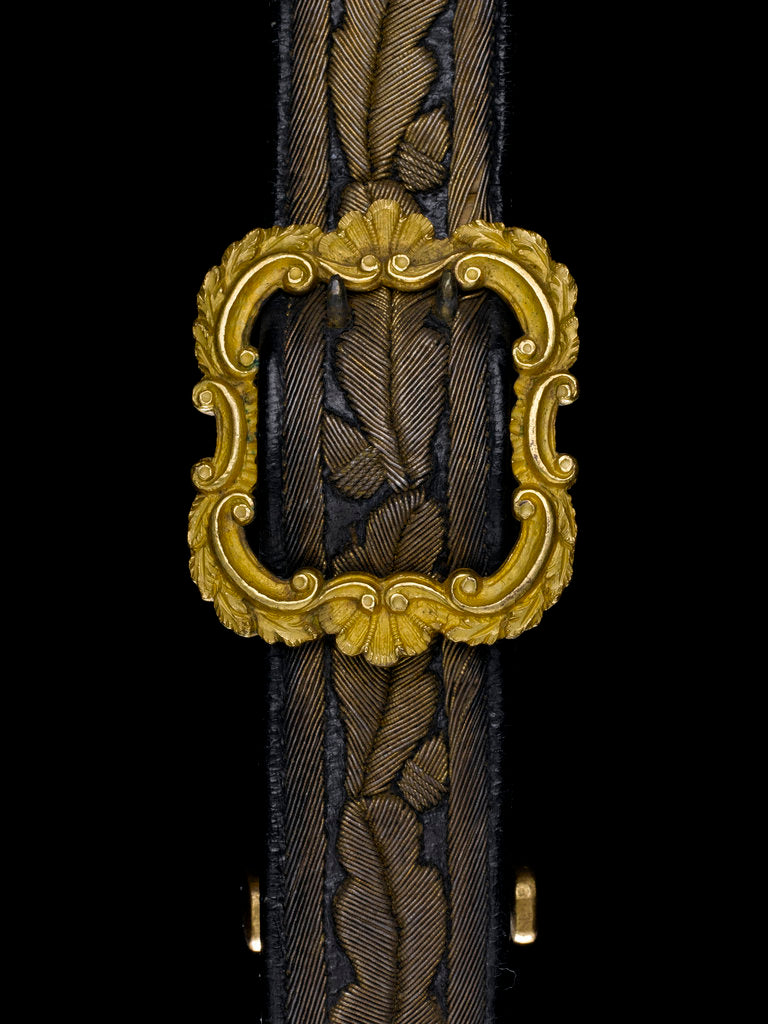 Detail of Full dress sword belt - buckle detail, Royal Naval uniform: pattern 1856 by unknown