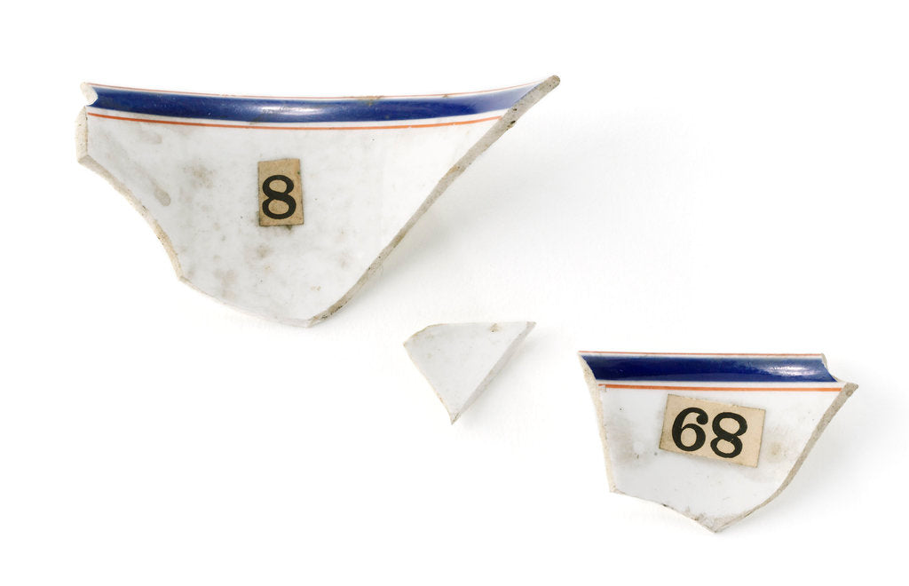 Detail of Tea cup fragments by unknown