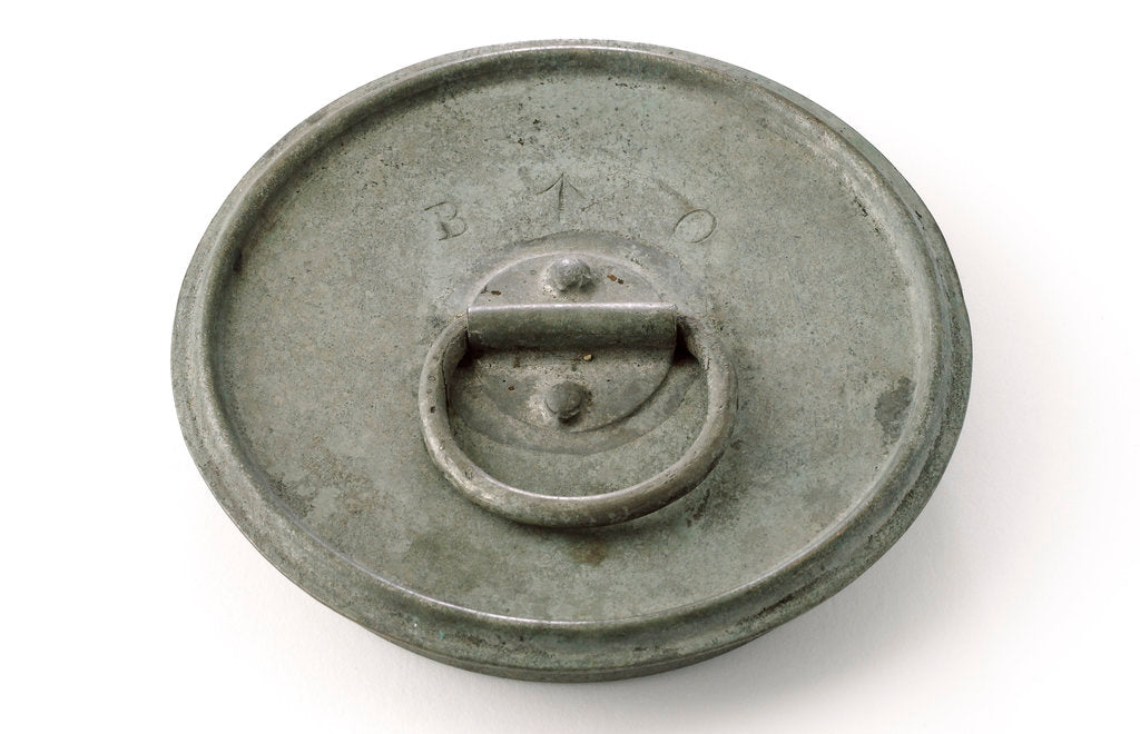 Detail of Powder case lid - underside by unknown