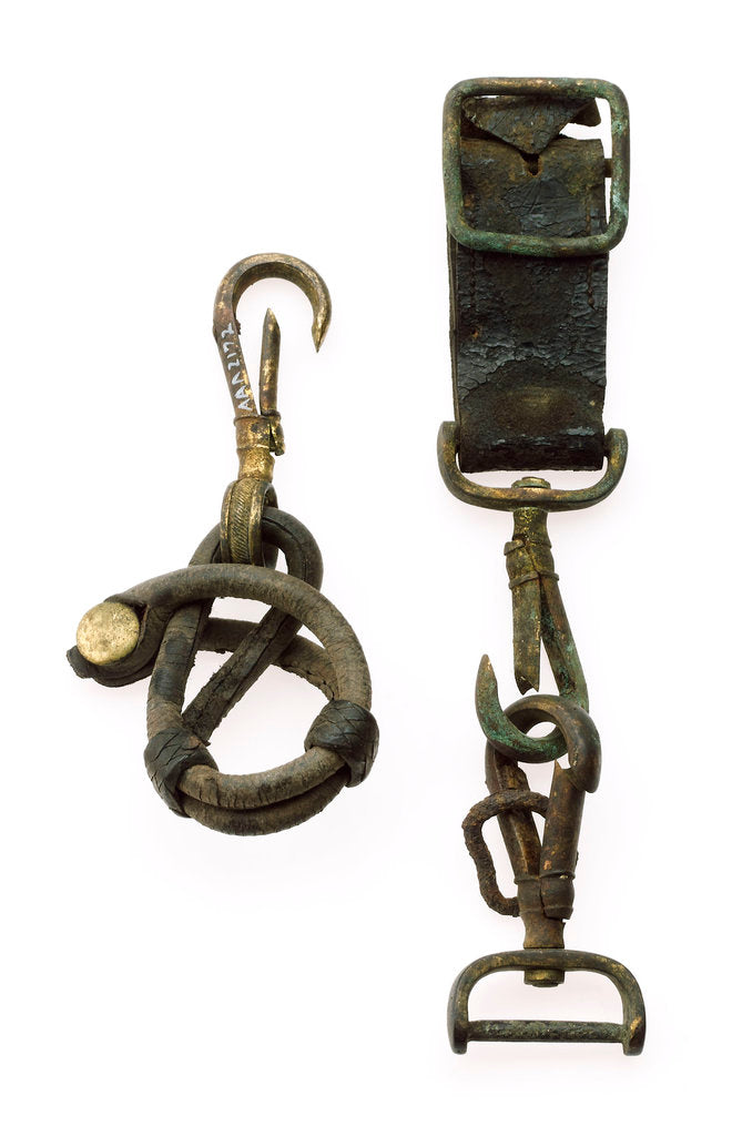 Detail of Sword belt spring hooks by unknown
