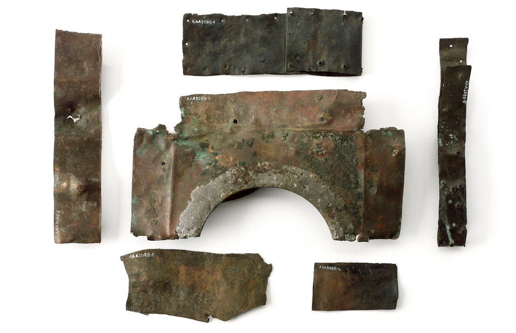 Detail of Fragments of copper sheet by unknown