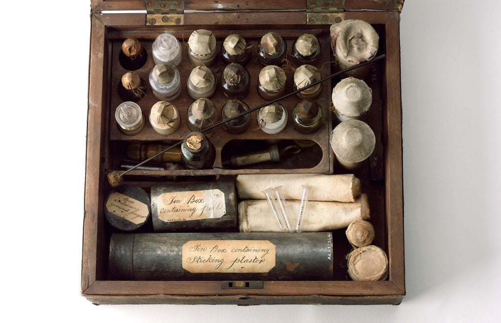 Detail of Medicine chest by unknown