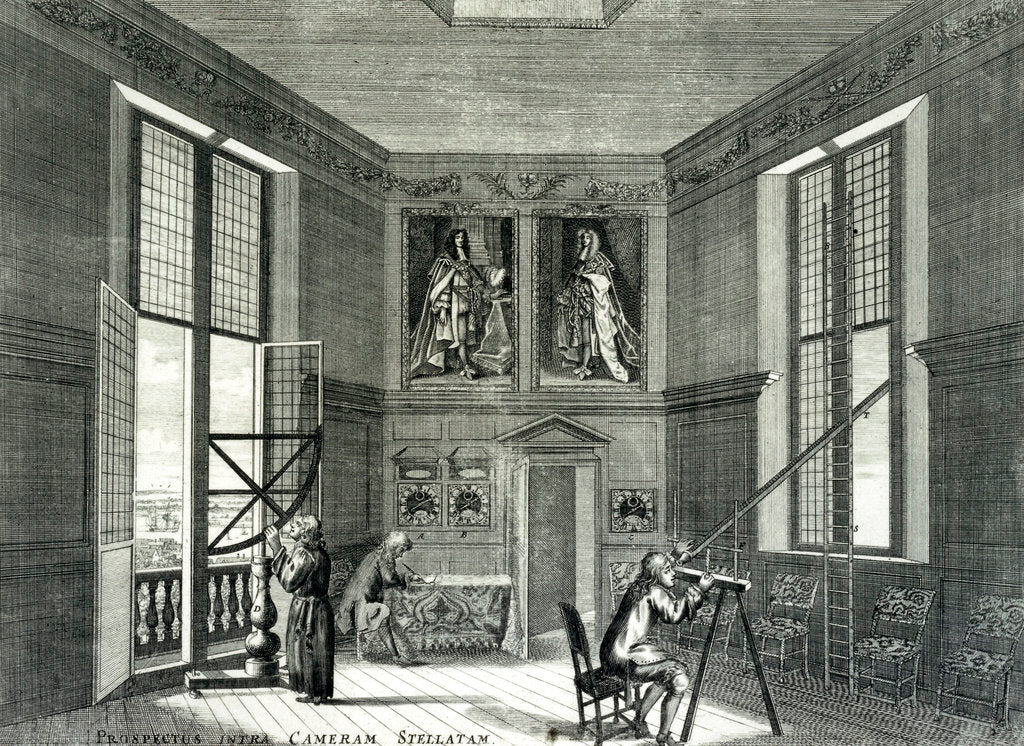 Detail of Interior of the Octagon Room at the Royal Observatory, Greenwich, London by Francis Place