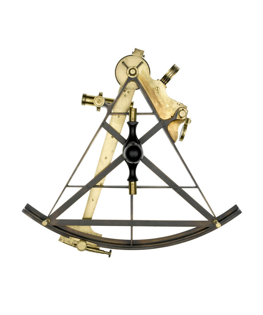 Detail of Sextant, brass - Gilbert & Wright - back by Gilbert & Wright