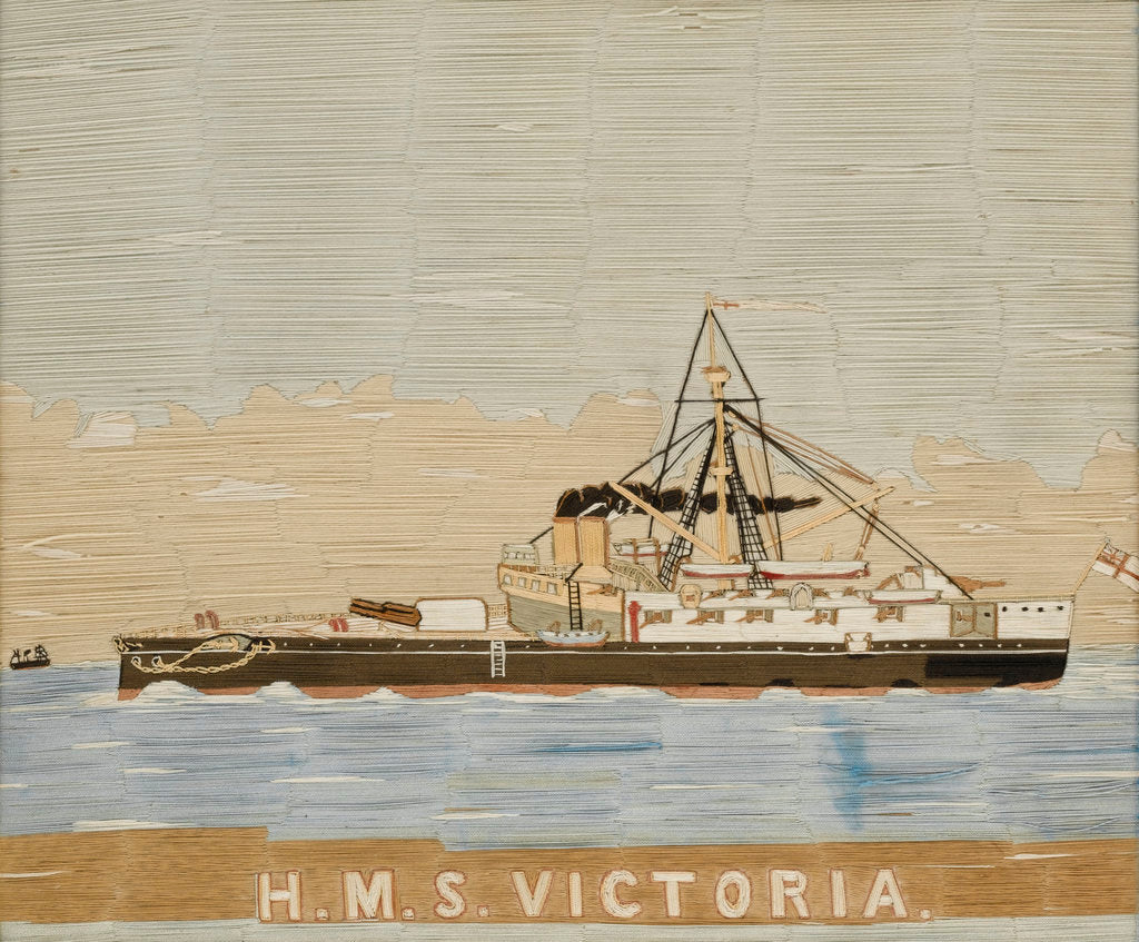 Detail of HMS 'Victoria' by unknown