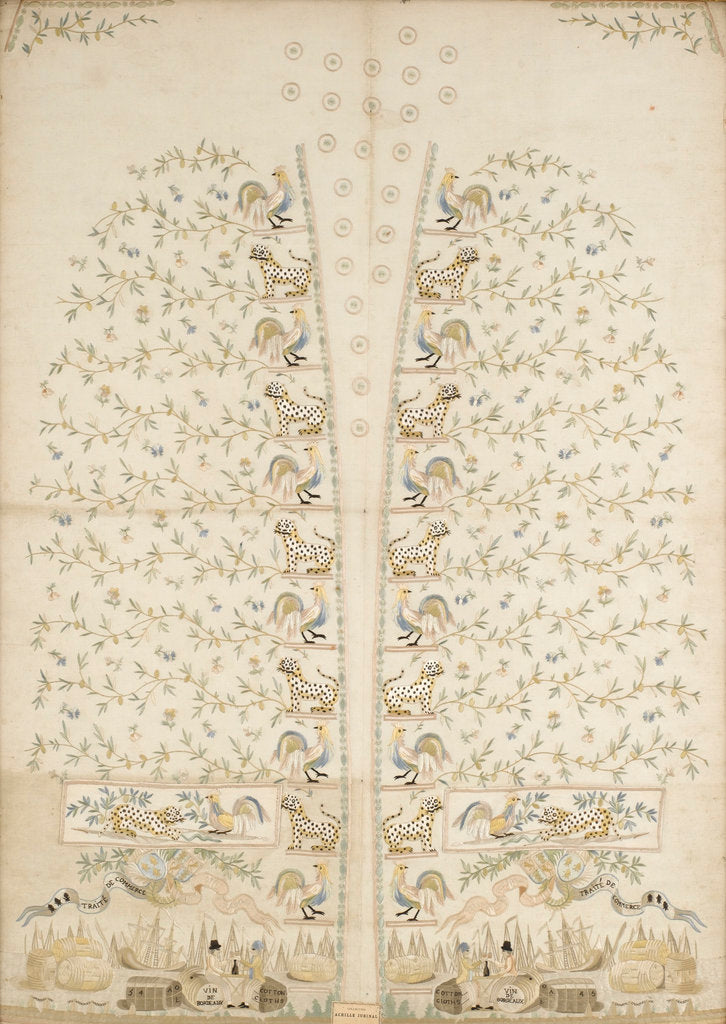 Detail of Embroidered panel for a waistcoat by unknown