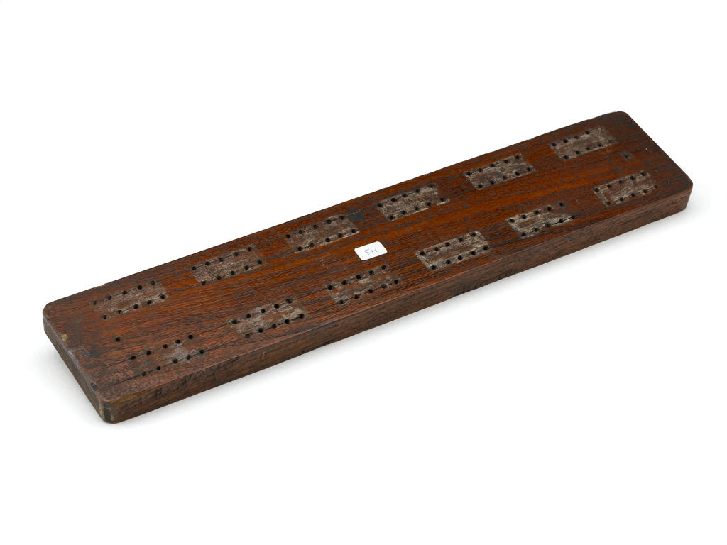 Detail of Cribbage board by William Baddeley