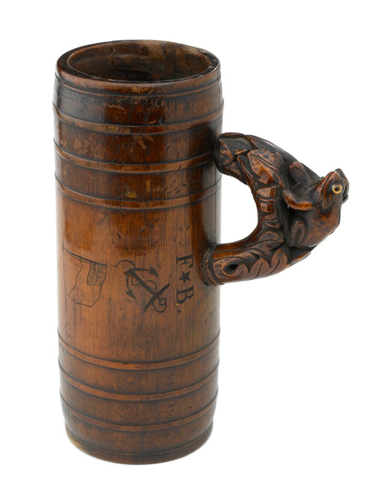 Detail of Wooden tankard by unknown