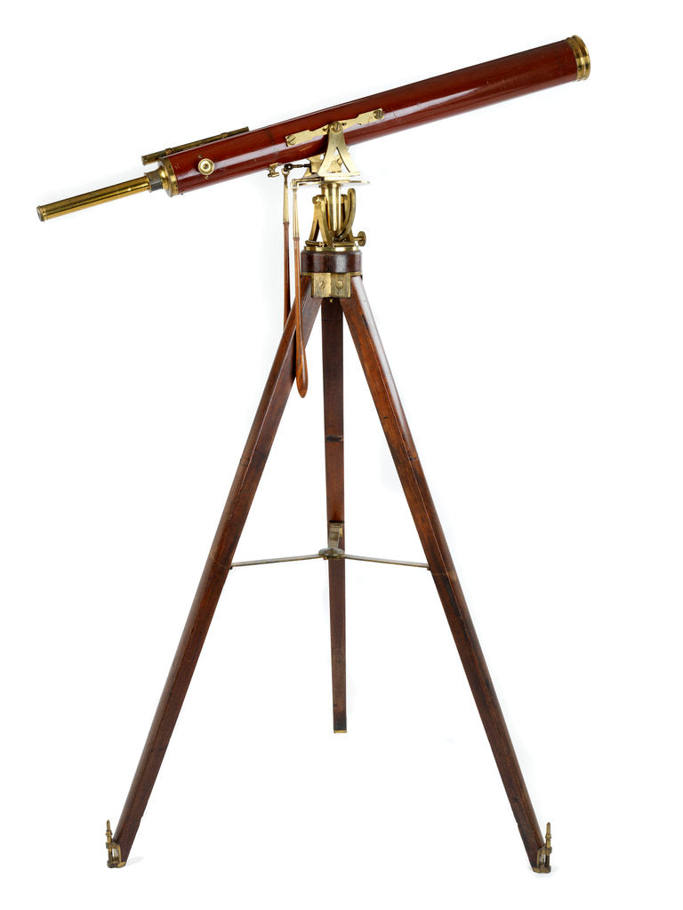 Detail of Portable refractor telescope by Dollond family