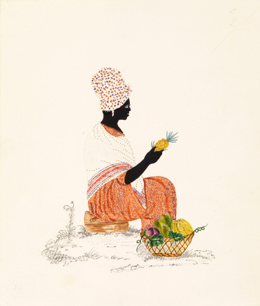 Detail of Fruit seller by British School