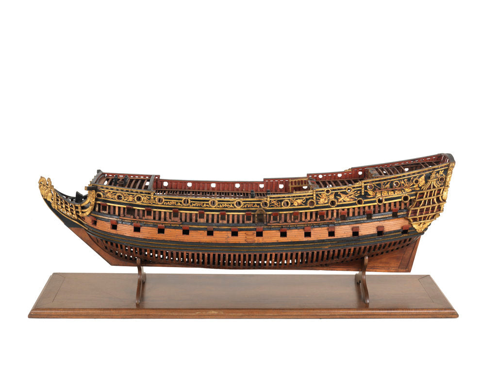Detail of Navy Board, Skeleton model, ship of 90 to 94-guns by unknown