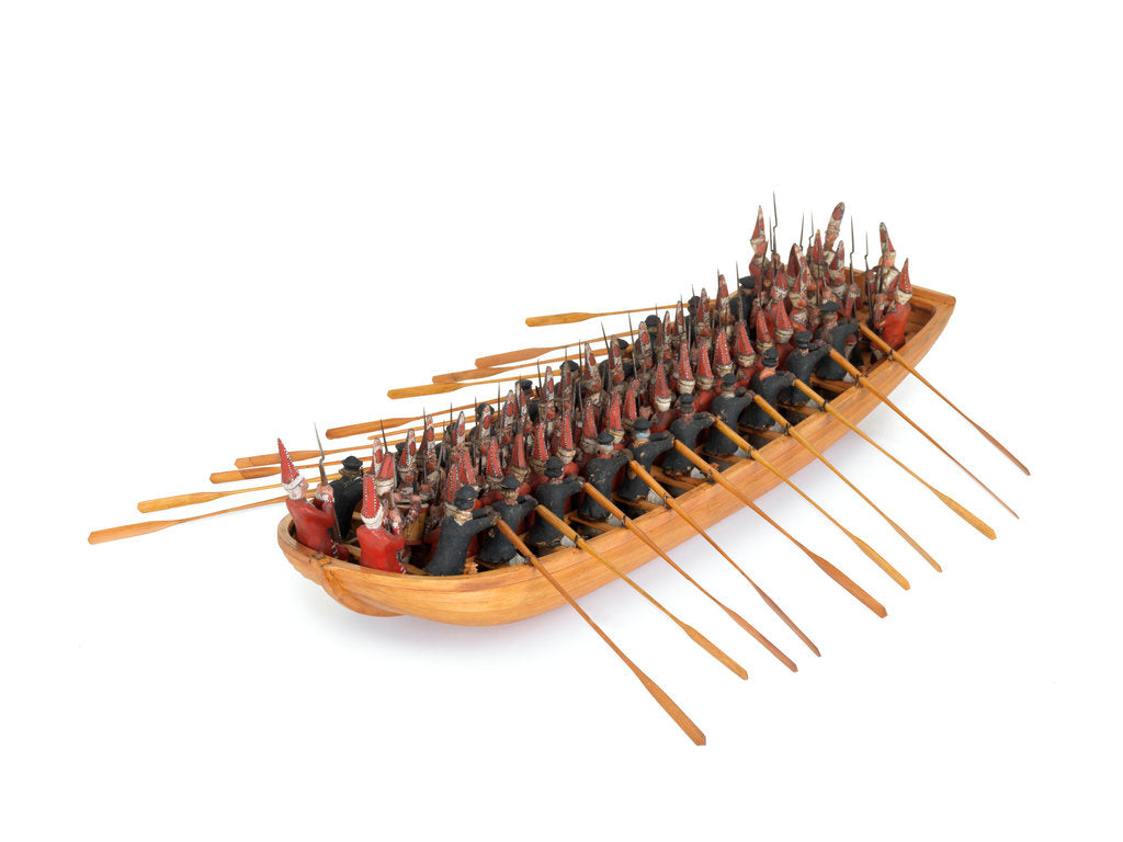 Detail of Model of a troopboat by unknown