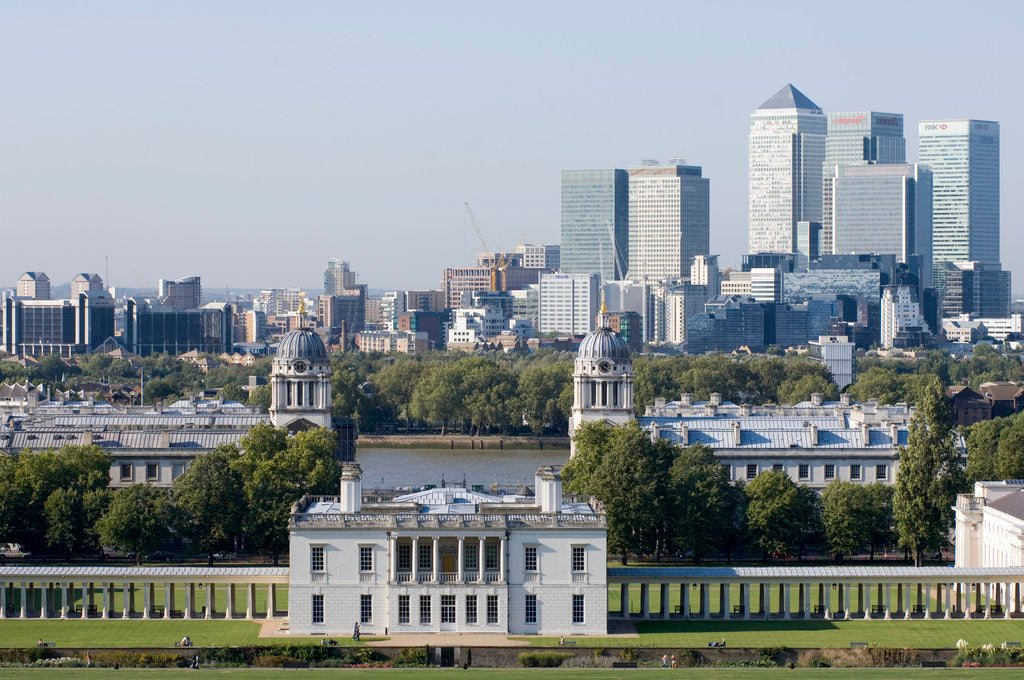 Detail of View of Queen's House and Isle of Dogs from Greenwich Park by National Maritime Museum Photo Studio