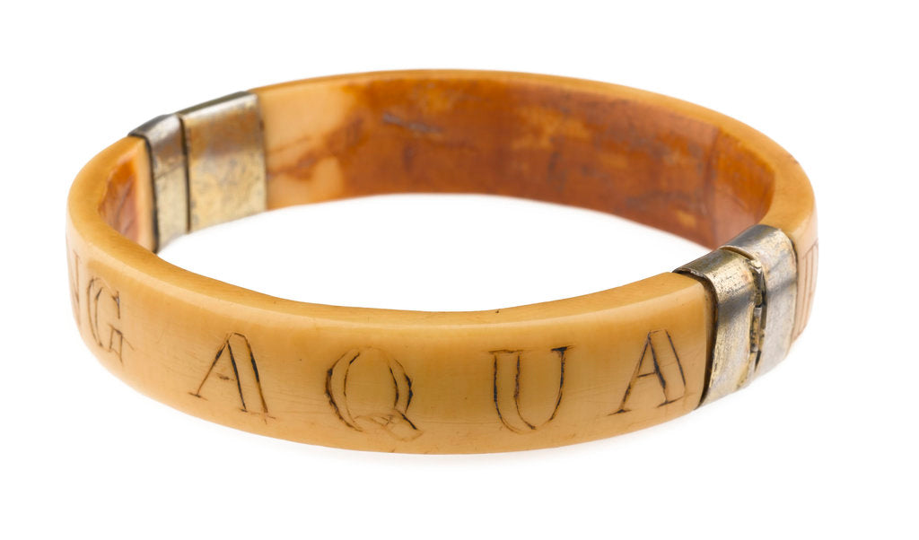 Detail of King Aqua Bracelet - View Showing Engraving