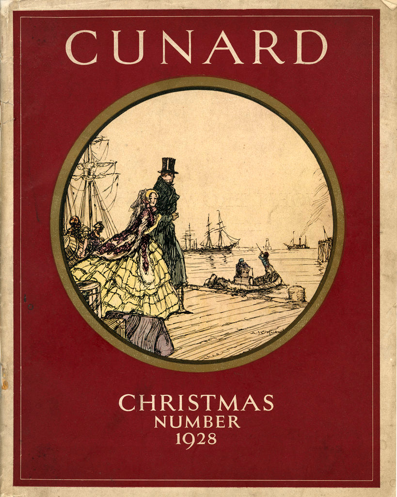 Detail of Cover of Cunard Christmas Annual 1928 by unknown