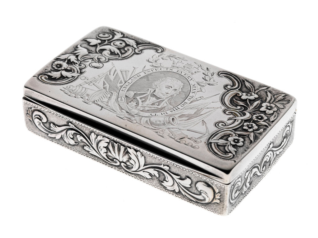 Silver box commemorating Nelson and the Battle of Trafalgar, 1805 by Peter & William Bateman