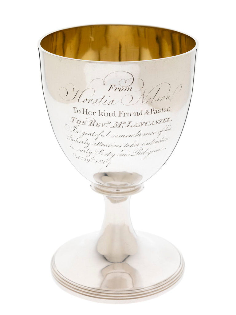 Detail of Goblet presented in 1807 by Vice-Admiral Lord Nelson's daughter Horatia Nelson (1801-81) by John Emes