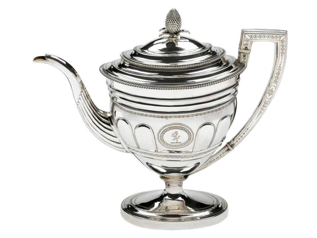 Detail of Silver coffee pot, part of a service owned by Admiral Sir John Gore (1772-1836) by Duncan Urquhart