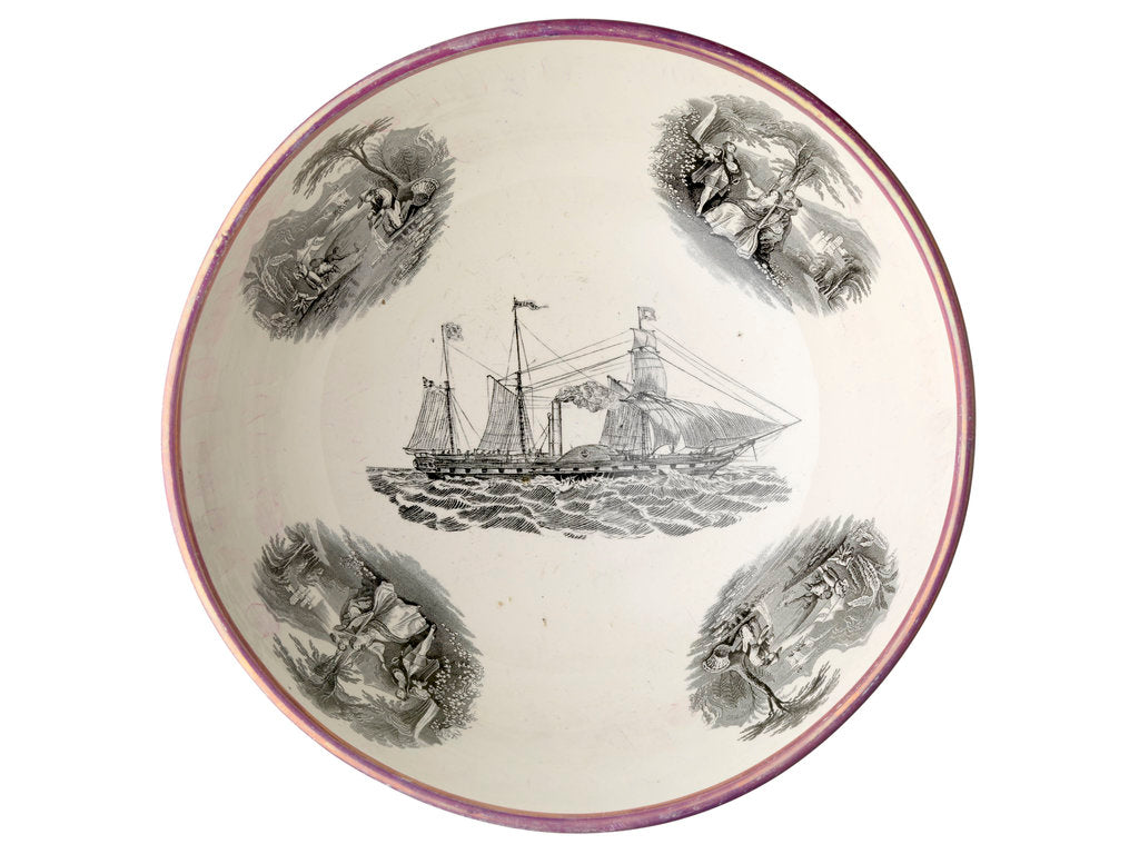 Detail of Sunderland lustreware bowl by Moore & Co.