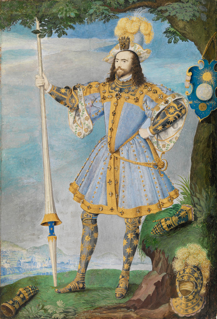 Detail of George Clifford, 3rd Earl of Cumberland (1558-1605) by Nicholas Hilliard