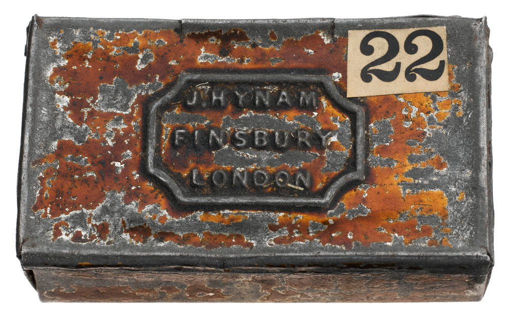Detail of Match box by J. Hynam