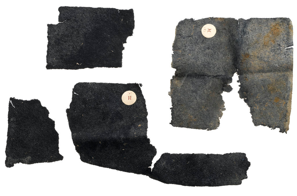 Detail of Fabric fragments by unknown