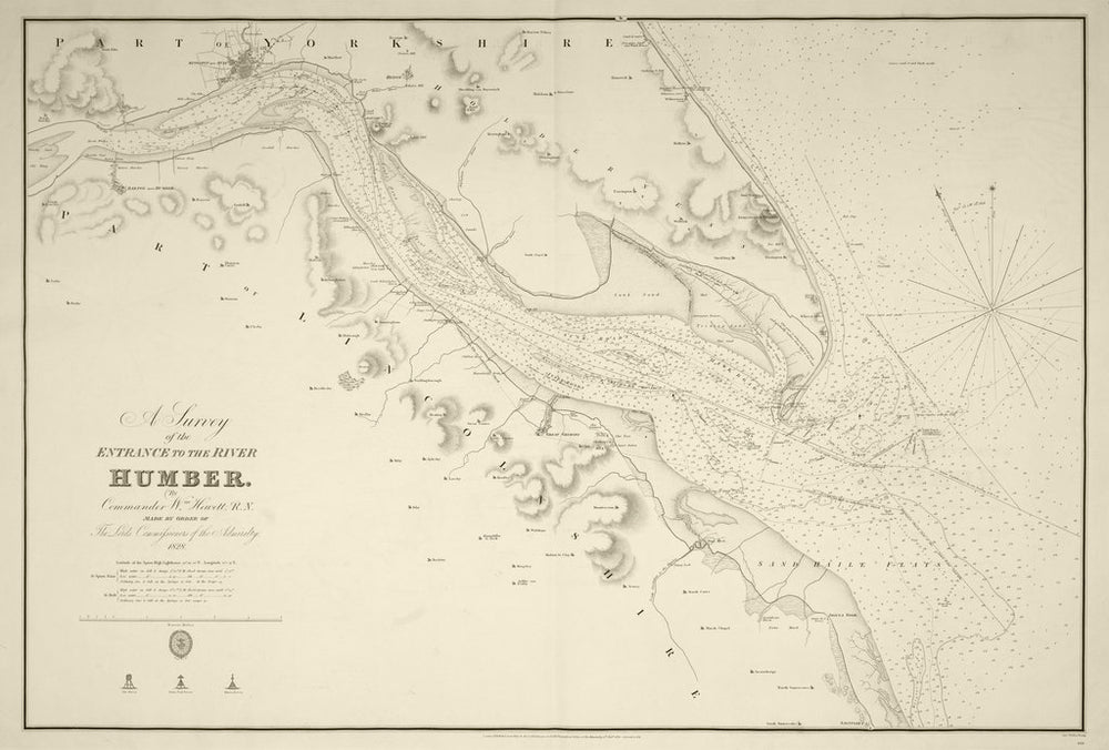 A survey of the entrance to the River Humber by Commander Williamm Hewett, R.N. made by order of the Lords Commisioners of the Admiralty 1828