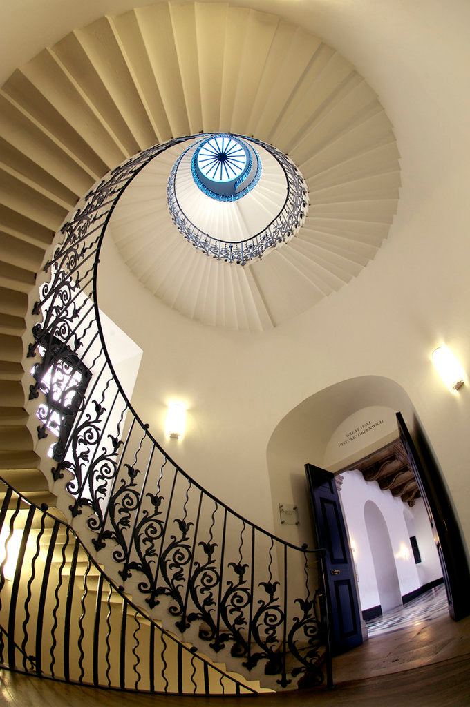 Detail of Tulip Stair, Queen's House, Greenwich by National Maritime Museum Photo Studio