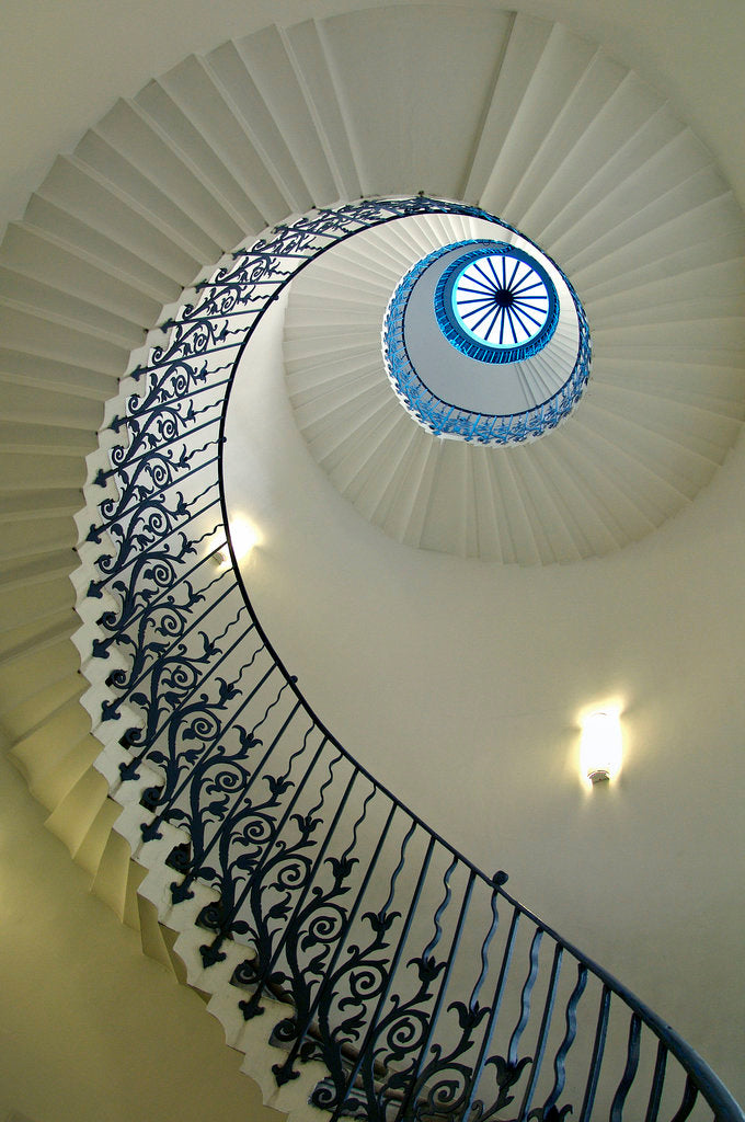 Detail of Tulip Stair in Queen's House, Greenwich by National Maritime Museum Photo Studio