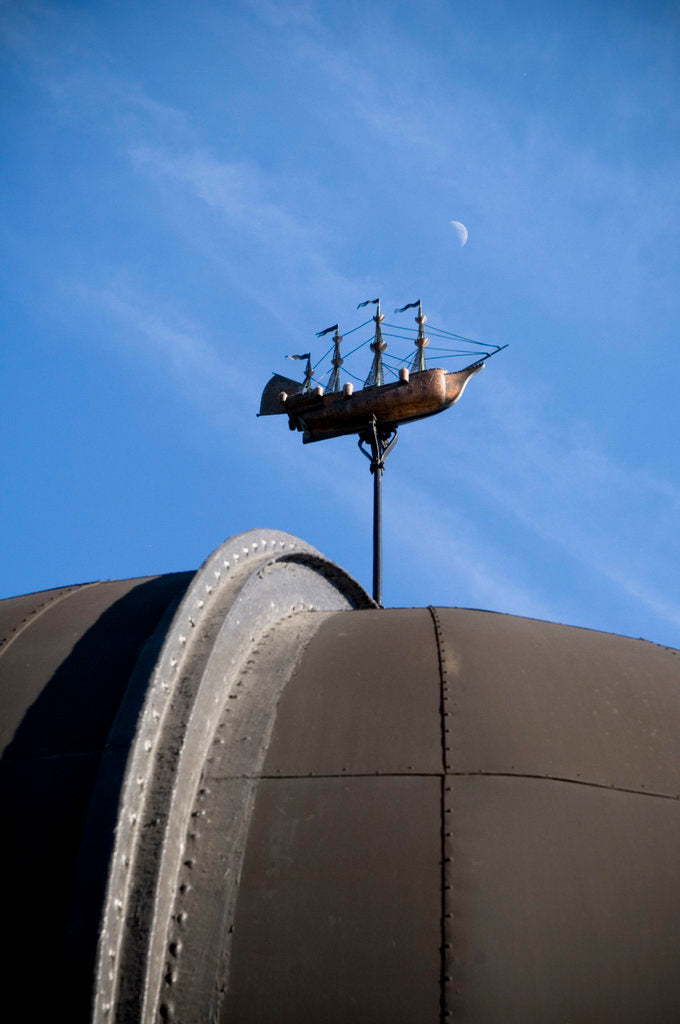 Detail of Telescope dome and ship model at Royal Observatory, Greenwich by National Maritime Museum Photo Studio
