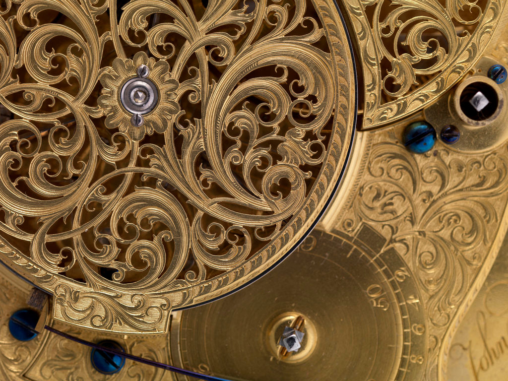 Detail of Harrison's marine timekeeper H4 by John Harrison