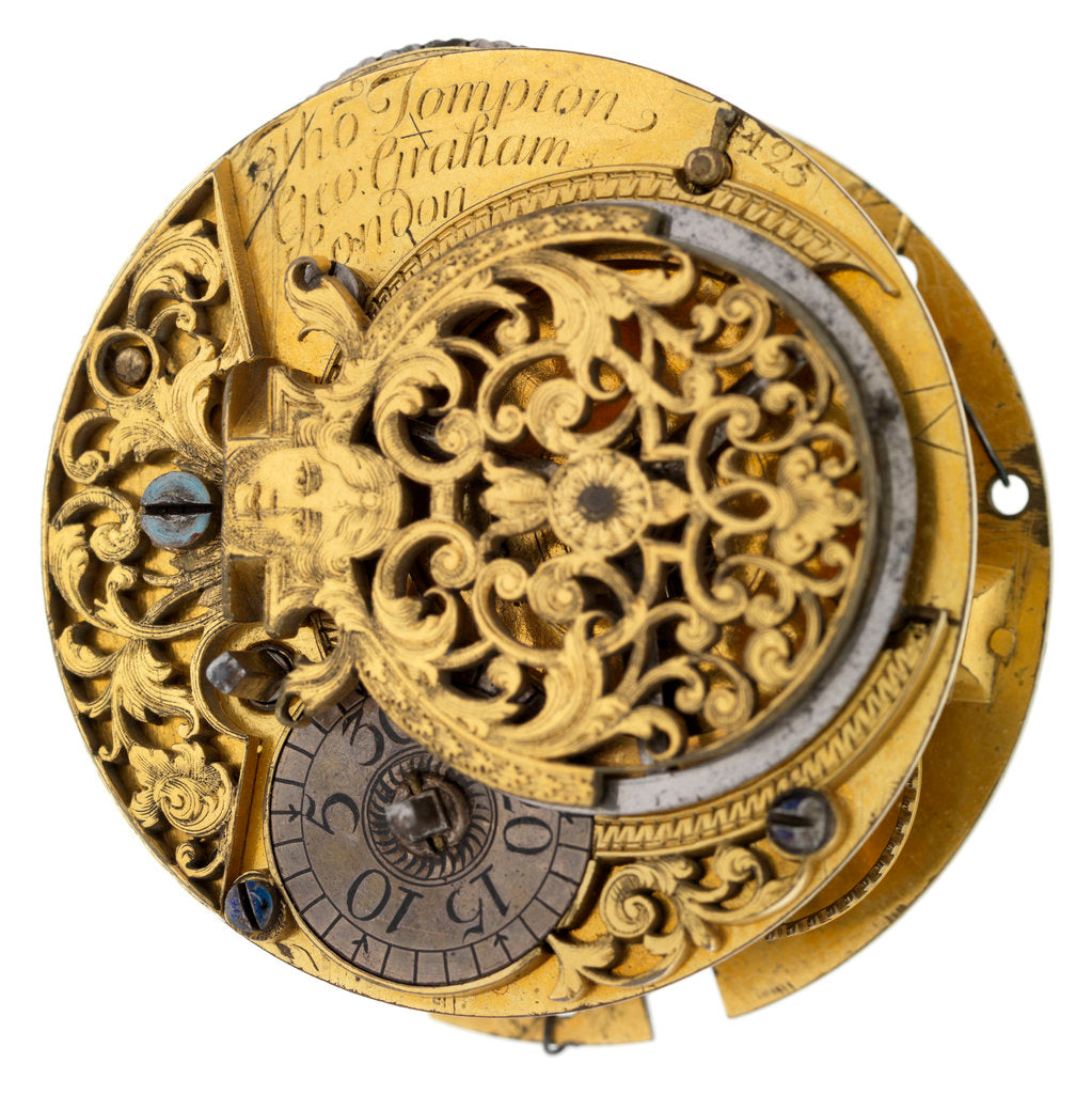 Detail of Pocket watch '4425' movement by Thomas Tompion