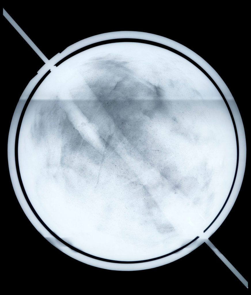 Detail of Globe x-ray by Willem Jansz Blaeu