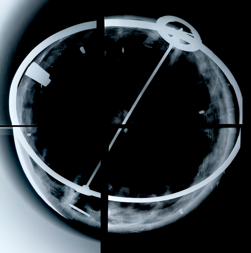 Detail of Globe x-ray by Vincenzo Coronelli